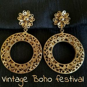 Boho Festival Earrings Vintage Filigree